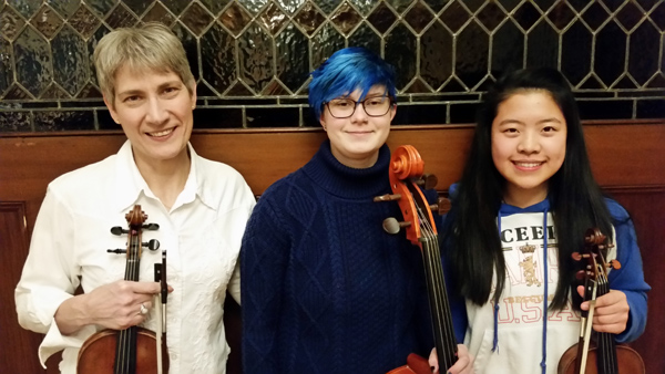 Soloists (Left to Right) Carla Stein, Phoenix Hagerman and Sandy Wang